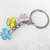 Zinc Alloy keyring Jewelry Key Chains, Pendant width:17mm, Length Approx:8cm, Sold by PC