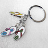 Zinc Alloy keyring Jewelry Key Chains, Pendant width:12mm, Length Approx:9.5cm, Sold by PC