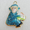 Cloisonne Pendants, Monkey 29x20mm Hole:2.5mm, Sold by PC