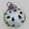 Cloisonne Pendants, Ladybird 22x17mm Hole:3mm, Sold by PC