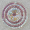 Glass Crystal Pendants, Flat Round 40x40mm Hole About:2mm, Sold by PC