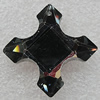 Glass Crystal Pendants, Cross 33mm Hole About:1.5mm, Sold by PC
