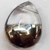 Electroplate Glass Beads, Teardrop, 16x20mm, Hole:1mm, Sold per 16-inch Strand