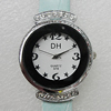 Metal Alloy Fashionable Watch Face with PU Watchband, Watch:about 28mm, Sold by PC