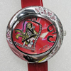 Metal Alloy Fashionable Watch Face with PU Watchband, Watch:about 39mm, Sold by PC