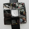 Metal Alloy Fashionable Watch Face with PU Watchband, Watch:about 36mm, Sold by PC