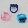 Acrylic Rings, Mix Color, Flower 18mm, Sold by Box