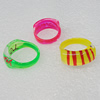 Acrylic Rings, Mix Color, Rectangle 22x10mm, Sold by Box