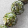 Natural Shell Beads, Round, 10mm, Hole:Approx 1mm, Sold per 16-inch Strand
