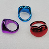 CCB Rings, Mix Color, Heart 24x18mm, Sold by Box