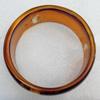 Imitate Amber Bracelet, width:31mm, Inner diameter:67mm, Sold by PC