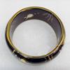 Imitate Amber Bracelet, width:32mm, Inner diameter:67mm, Sold by PC