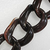 Acrylic Chains, Lead-free, Dyed Color, 41x40x13mm, Sold by Bag