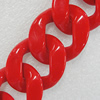 Acrylic Chains, Lead-free, Dyed Color, 41x34x9mm, Sold by Bag