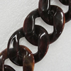 Acrylic Chains, Lead-free, Dyed Color, 41x34x10mm, Sold by Bag