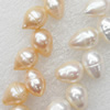 Natural Fresh Water Pearl Beads, Rice, Mix colour, Beads: about 8x10mm in diameter, Hole: 1mm, Length: 14 Inch, Sold by