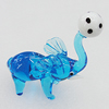 Lampwork Glass Decorations, Elephant 88x65mm, Sold by PC