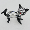 Lampwork Glass Decorations, Cat 68x60mm, Sold by PC