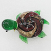 Lampwork Glass Decorations, Tortoise 58x44mm, Sold by PC