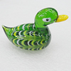 Lampwork Glass Decorations, Duck 60x34mm, Sold by PC