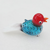 Lampwork Glass Decorations, Bird 83x28mm, Sold by PC