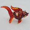 Lampwork Glass Decorations, Fish 59x36mm, Sold by PC