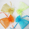 Organza Gift Jewelry Bag, Mixed Color, about 10cm wide, 15cm long, Sold by Group