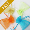 Organza Gift Jewelry Bag, Mixed Color, about 10cm wide, 12cm long, Sold by Group