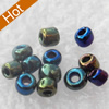 Glass Seed Beads, 12/0, Iris Round Hole Rocailles, 2mm in diameter, hole: 1mm, about 39000pcs/Bag, Sold by Bag