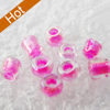 Glass Seed Beads, 12/0,Trans.Inside Colours Rainbow, Round Hole Rocailles, 2mm in diameter,hole: 1mm, about 39000pcs/Bag