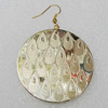 Acrylic Earrings, Flat Round 45mm, Sold by Group