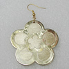 Acrylic Earrings, Flower 45mm, Sold by Group