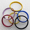 Aluminum Ring, Mix color, wide:3mm, Sold by Bag
