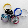 Aluminum Ring, Mix color, wide:6mm, Sold by Bag