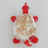 Glass Decorations, Turtle 53x35mm, Sold by PC