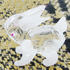 Glass Decorations, Rabbit 35x33mm, Sold by PC
