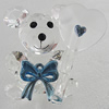 Glass Decorations, Bear 56x45mm, Sold by PC