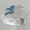 Glass Decorations, Shoes 34x20mm, Sold by PC