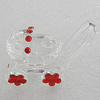 Glass Decorations, 46x28mm, Sold by PC
