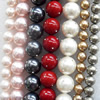 South Sea Shell Beads, Mixed color, Round, 14mm, Hole:Approx 1mm, Sold per 16-inch Strand