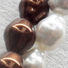 South Sea Shell Beads, Bicone, Mixed color, 14x17mm, Hole:Approx 1mm, Sold per 16-inch Strand