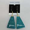 Resin Earrings, Trapezia 42x27mm, Sold by Group