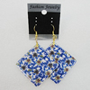 Resin Earrings, Diamond 52mm, Sold by Group