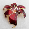 Cloisonne Brooch, Flower, 45x48mm, Sold by PC