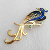 Cloisonne Brooch, Bird, 22x70mm, Sold by PC