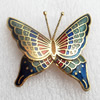 Cloisonne Brooch, Butterfly, 45x43mm, Sold by PC