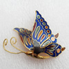 Cloisonne Brooch, Butterfly, 40x46mm, Sold by PC
