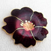 Cloisonne Brooch, Flower, 48x44mm, Sold by PC