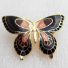 Cloisonne Brooch, Butterfly, 43x31mm, Sold by PC