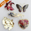 Cloisonne Brooch, Mixed color & Mixed style, Size Approx:22-70mm, Sold by Group